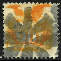 Sc #116 Grill SON Fancy Cancel 10 Cent 1869 Pictorial US 51D83