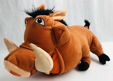 "Disney The Lion King Pumbaa Plush 16"" 2003 Hasbro Stuffed Animal Free Ship"