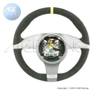 OEM Porsche 911 997.2 GT2 GT3 RS Alcantara Steering Wheel w Yellow Top 2010-2012