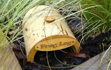 Frog Log bamboo house hand crafted abode habitat shelter for frogs and toads