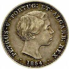 Coin Silver Portugal 500 reis, 1854