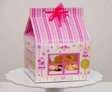 Cupcake Box Cup Cake Box Boxes  Pink Dolls House Shape x 2 Houses (NEW)