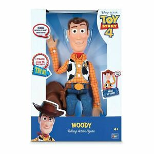 "Toy Story 4 WOODY TALKING ACTION FIGURE Sheriff 16"" Disney Pixar - 15 Sounds!"