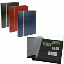 Stamp Albums Stock Books - Black - 32 Black Pages