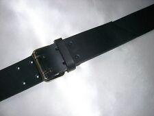 Breiter Ledergürtel schwarz 5cm Echtleder Doppeldornschnalle leather belt black
