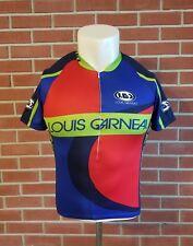 Louis Garneau 1/2 Zip Short Sleeve Mens Medium Polyester Cycling Jersey Colorful