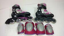 Schwinn Adjustable Size Xpulse Abec-5 Rollerblades Size 1-4 Inline Skates wPads