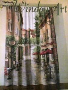 Window Art Mural EUROPEAN CAFE 2 Panels Total Length 66 x 84 French Doors too