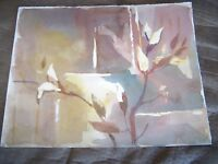 "Original Watercolor by Peg Humphreys Abstract Floral 14"" x 11"""