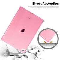 "For Apple iPad 10.2"" 7th Gen 2019 Shockproof Soft Silicone Slim Clear Case Cover"