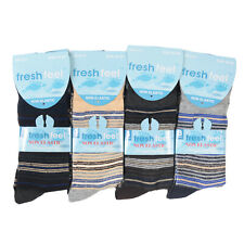Mens Womens Extra Wide Loose Ladies Diabetic Cotton Rich Socks 3 / 6 / 12 Pairs