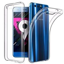 For Huawei Honor 9 Case Clear Slim Gel Cover and Glass Screen Protector