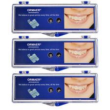 HOT 3X Dental Ortho Ceramic Brackets 20PC/Kit Roth 022 5*5 Hooks 345 ORMAER IT