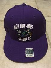 Reebok Fitted Baseball Cap New Orleans Hornets 7 3/8 Purple Nba