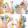 Cartoon Family Animal Finger Hand Puppets Cloth Doll Baby Educational Story Toys