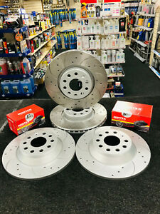 For Alfa Romeo Giulietta 2.0 JTDM FRONT REAR DRILLED GROOVED BRAKE DISCS & PADS
