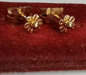 Boucles D'oreilles En Or 18k Vintage
