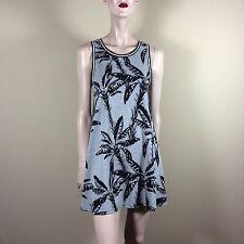 Forever 21 señora vestido m 38 gris camisa a-form palmeras Print resort Dress