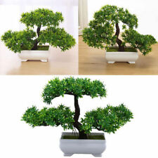 Artificial Bonsai Plants Indoor Fake Guest Greeting Pine Tree Green Table Decors