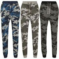 Kids Girls Boys Camouflage Joggers Jogging Pants Trackie Bottom Casual Trousers