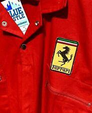 """Superb Classic Retro Goodwood Revival Ferrari Badged Red Overalls 48-50"""" Chest"""