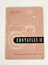+Vintage Original Contaflex II Film Camera Instruction Manual