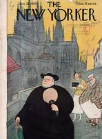 1934 New Yorker June 23 -Tourists and Friar alike by Rea irvin