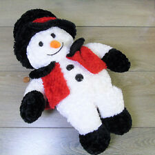 "DanDee SPARKLE COAT SNOWMAN PLUSH 15"" Collectors Choice Stuffed Animal Toy Decor"