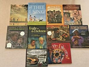 LOT 10 AFRICAN AMERICAN Children's BLACK HISTORY HARDCOVER BOOKS