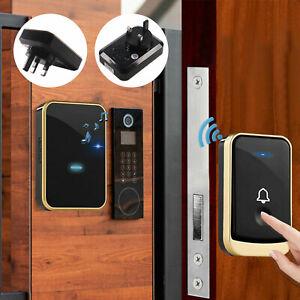 Waterproof 300m Range Wireless Doorbell Wall Plug-in Cordless Door Chime UK