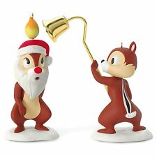 A Merry Pair 2016 Hallmark Disney Ornament  Chip and Dale Pluto's Christmas Tree