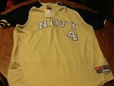 Nike navy midshipmen sewn on henley bas ball jers y nwt adult large