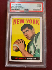 Joe Namath 2001 Topps Archives 1965 Topps Rookie Card Reprint PSA 9 Mint