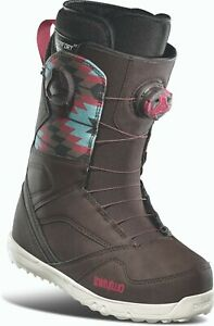 SNOWBOARD BOOTS THIRTYTWO WOMENS UK 5 BROWN STW DOUBLE BOA US 7 EU 38