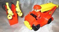 Lego Duplo Feuerwehr Leiter Figur Anhänger Schlauch Löschfahrzeug Fahrzeug selte