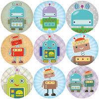 144 Robots 30mm Children's Reward Stickers for Teachers, Party Bags