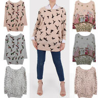 2019 Winter/Autumn Loose Knitted Long Sleeve Floral Print Stretchy Women Sweater