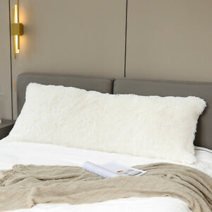 Long Plush Bed Pillow Cover Fluffy Cozy PillowCase Double Sleeping Pillow Case