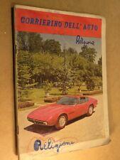 vecchio quaderno scolastico usato di scuola CORRIERINO DELL AUTO Maserati Ghibli