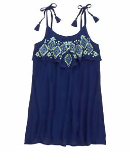Justice Girls Sleeveless Tank Top, Blue, 5