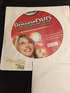 CyberLink Power Dvd 8 for Windows 7, 8, 10 Unused with License Key.