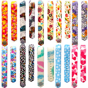 Replacement Colour Pattern Straps for the Fitbit Alta Wristband Secure Clasp