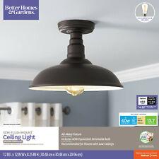 Better Homes & Gardens Semi Flush Mount Ceiling Light Modern Farmhouse Bronze