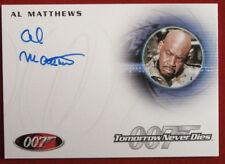 JAMES BOND - Tomorrow Never Dies - AL MATTHEWS, Master Sergeant - Autograph A205