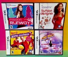 Fashion Designer Cheer Squad Gym Rockets  Games Lot Nintendo DS Lite 3DS 2DS