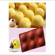 New listing Chocolate Muffin Pastry Jelly Silicone Mold Tray Half Ball Sphere Shape Tray Ld