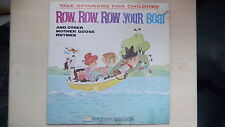 Tale Spinners For Children ROW,ROW,ROW YOUR BOAT & Other Mother Goose Rhymes LP