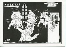 RARE / CPM CARICATURE ILLUSTRATEUR DESSIN JACQUES LARDIE / Y'A LE TAS N° 181