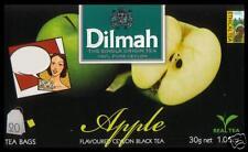 Dilmah Tee-Apple flavoured black Ceylon Tea 20 bustina del tè