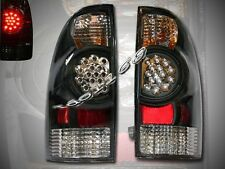 05-08 TACOMA BLACK LED TAIL LIGHTS REAR BRAKE LAMPS JDM